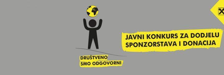 Još Nekoliko Dana Za Prijavu – Raiffeisen Banka: Javni Konkurs Za Dodjelu Sponzorstava I Donacija!