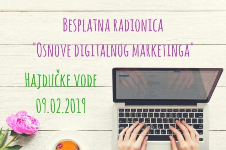 """""""Osnove Digitalnog Marketinga""""-besplatna Radionica"""