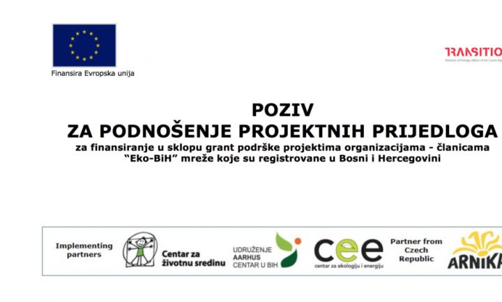 EKO-BIH: Otvoren Poziv Za Podnošenje Projektnih Prijedloga