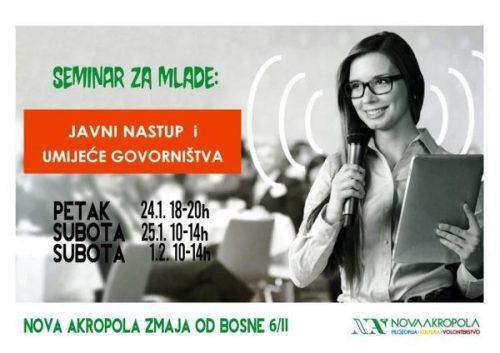 Seminar: Javni Nastup I Umijeće Govorništva