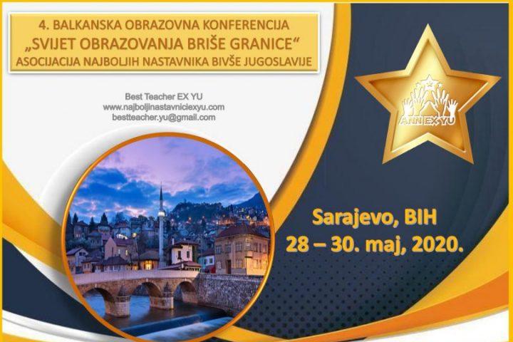 "4. Balkanska Obrazovna Konferencija ""Svijet Obrazovanja Briše Granice 4″"